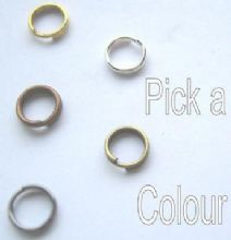6mm Split rings x 40. Pick a colour.